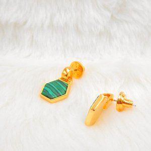 Tory Burch Shell Green Malachite Earrings